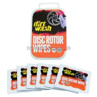 Disc brake rotor cleaning wipes dirt wash
